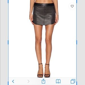 Dresses & Skirts - Michelle Mason Black studded Mini Skirt
